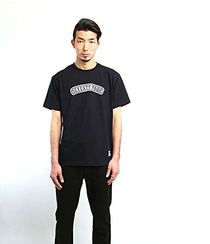 SEVENTY FOUR セブンティーフォー ロゴTシャツ ブラック ネイビー round rogo t shirt (M, ネイビー)