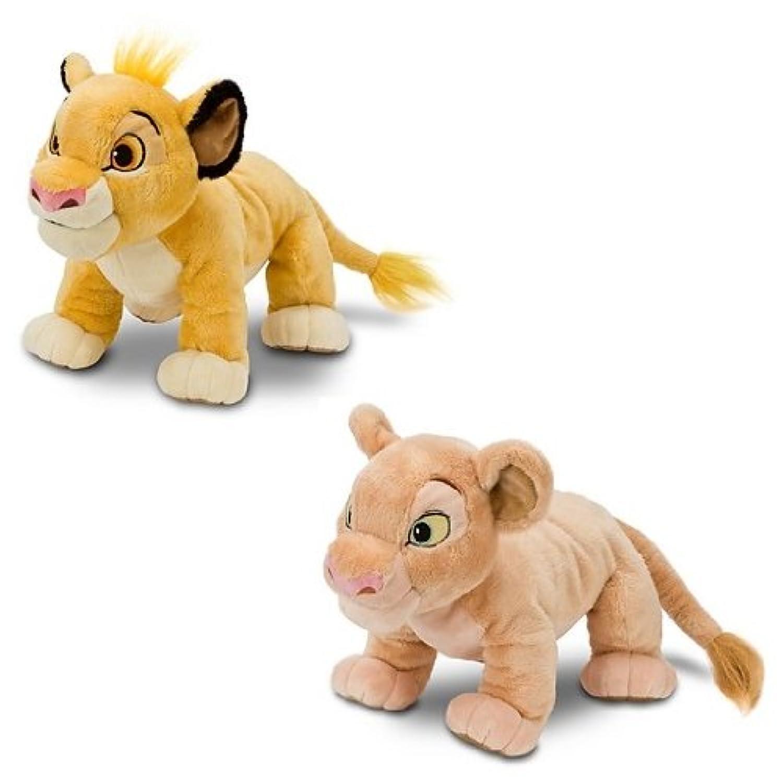 ディズニー ライオンキング  『シンバ?ナラ』 ぬいぐるみ(約28cm) Lion King Simba Nala Plush 並行輸入品 USディズニーストア