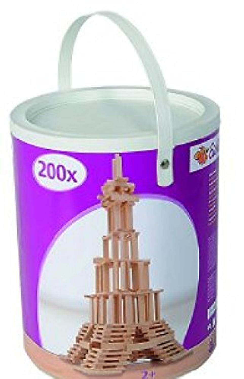 Eichhorn 100001602 Wooden Construction Set 200 Pieces [並行輸入品]