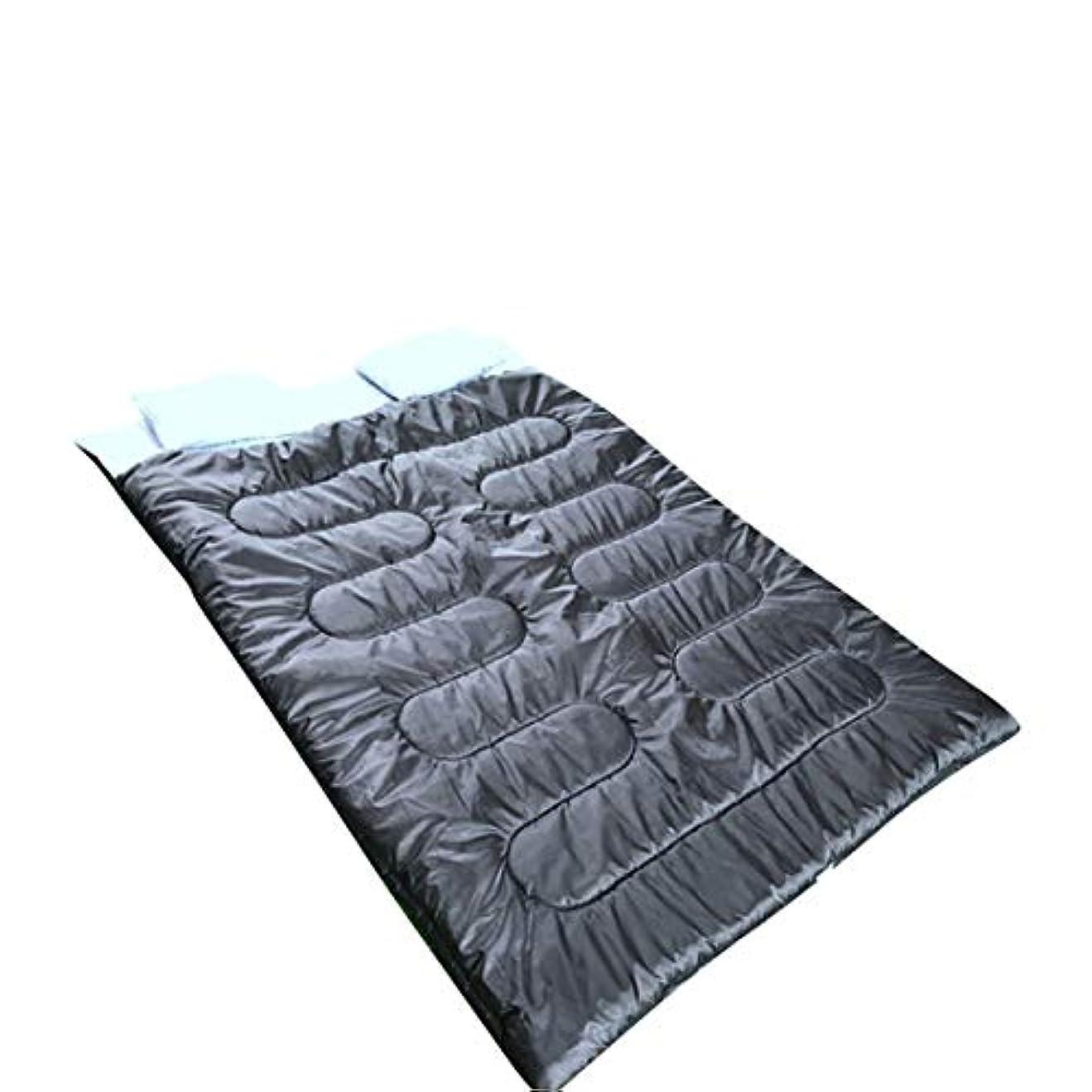 実験パイ力学Makecny 2つの枕の防水バックパックダブル寝袋 - 驚くほど軽量、コンパクト、快適&暖かい - バックパック、キャンプなどのためダブルサイズまたは2シングルバッグに変換