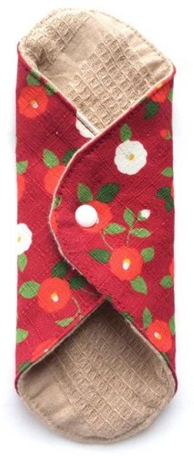 マイクロ終点思い出させる華布 オーガニックコットンのあたため布 Mサイズ(約15×約15cm) 華椿(紅)