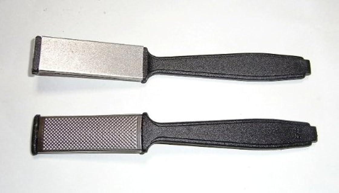 隣接するステーキ鳩ゲーゾル(独)GOSOL カカトヤスリ(細面と粗面の両面)