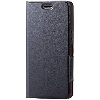 エレコム Xperia Ace ケース 手帳型 SO-02L ULTRA SLIM ソフトレザー [驚くほど薄くて軽い] マグネット付き スタンド機能 Made for XPERIA ブラック