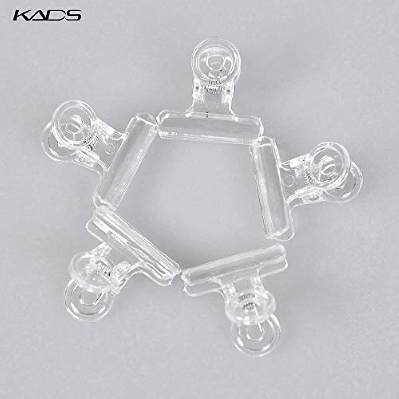 十類推特殊KADS ネイルクリップ ネイルエクステンションクリップ プラスチック製 ネイルアート用品 (クリア)