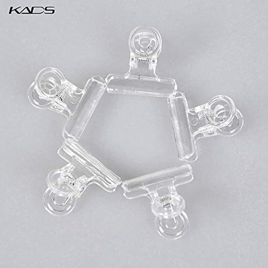 特許名前永久にKADS ネイルクリップ ネイルエクステンションクリップ プラスチック製 ネイルアート用品 (クリア)