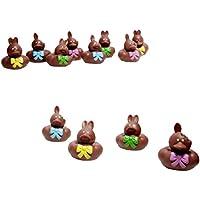 Vinyl Chocolate Easter Bunny Rubber Duckies, 12-Piece (Dozen) by OTC [並行輸入品]