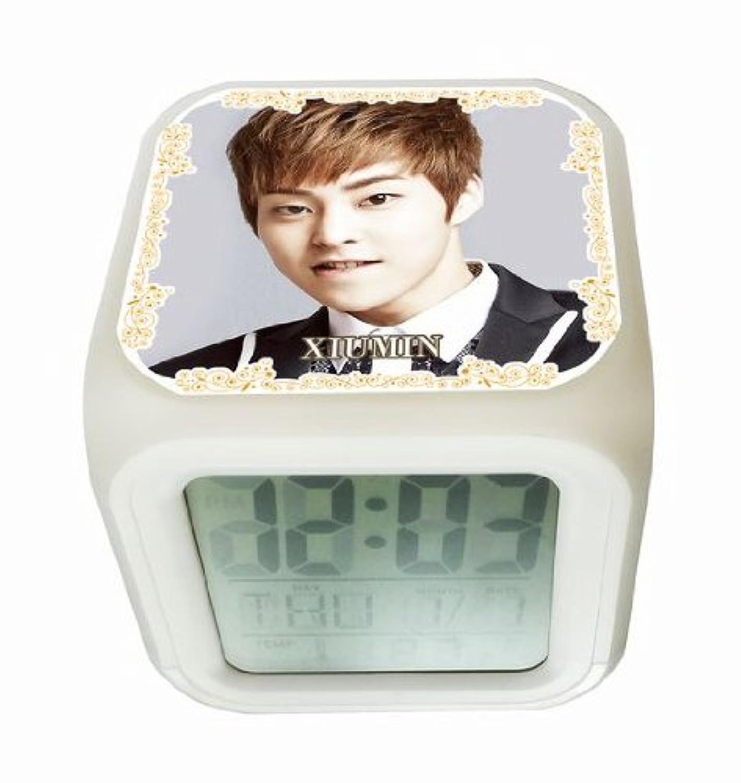 EXO シウミン EXO-K EXO-M 光る時計 置き時計 デジタル時計 目ざまし時計