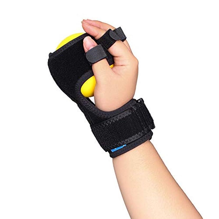 少数接触ブレイズ脳卒中リハビリテーション関節炎手袋マレットブレーストリガー指関節炎と靭帯の痛みを軽減するブレースコレクター