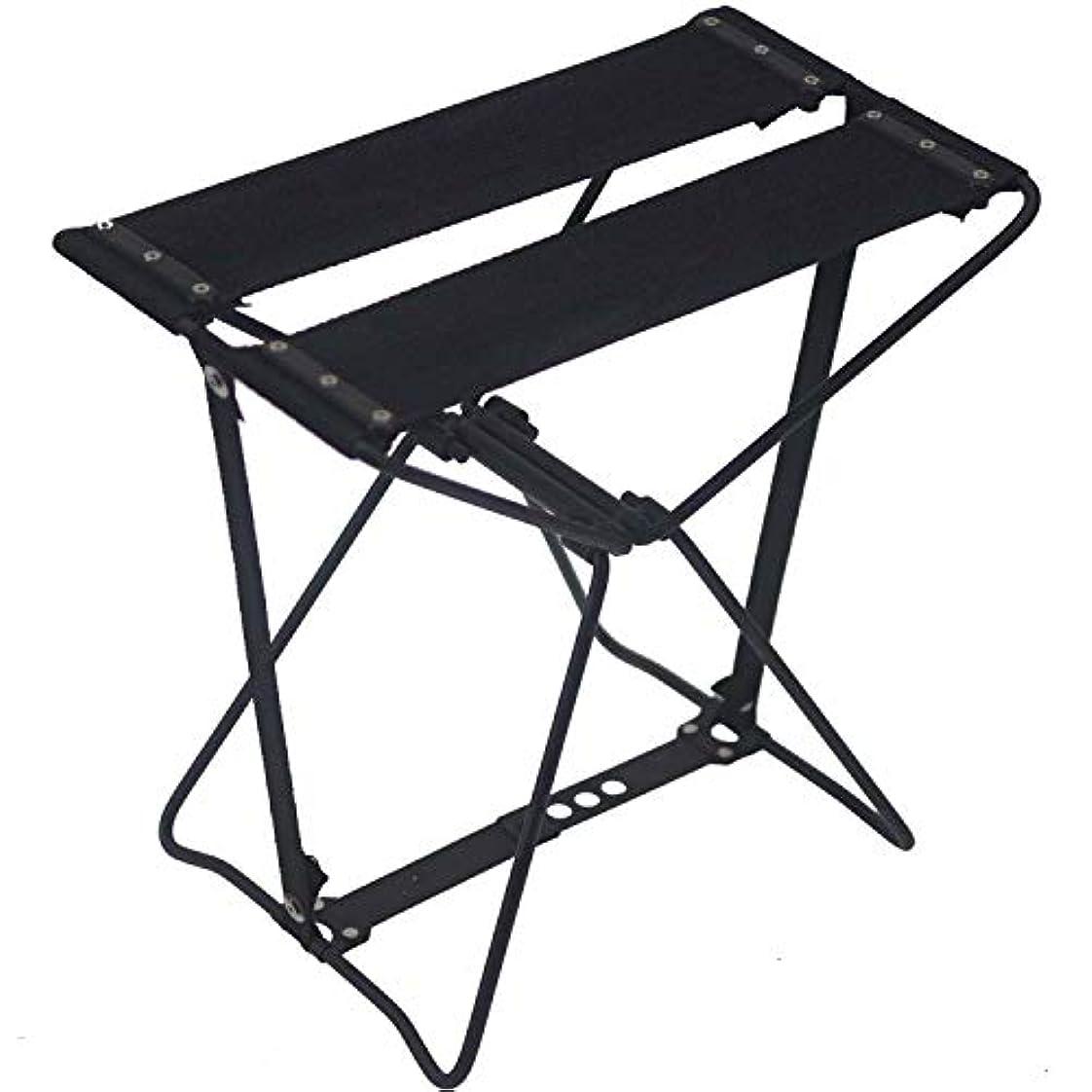 彼らは下る雇用者旅行に 行楽に どこでもチェア 椅子 黒 専用バッグ付 レジャー アウトドアー 携帯 折り畳み椅子 高さ285mm 頑丈 コンパクト 軽量 持ち運び保管楽
