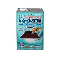 アサヒペン 水性シリコンアクリルトタン用 オーシャンブルー 14L 【まとめ買い3缶セット】