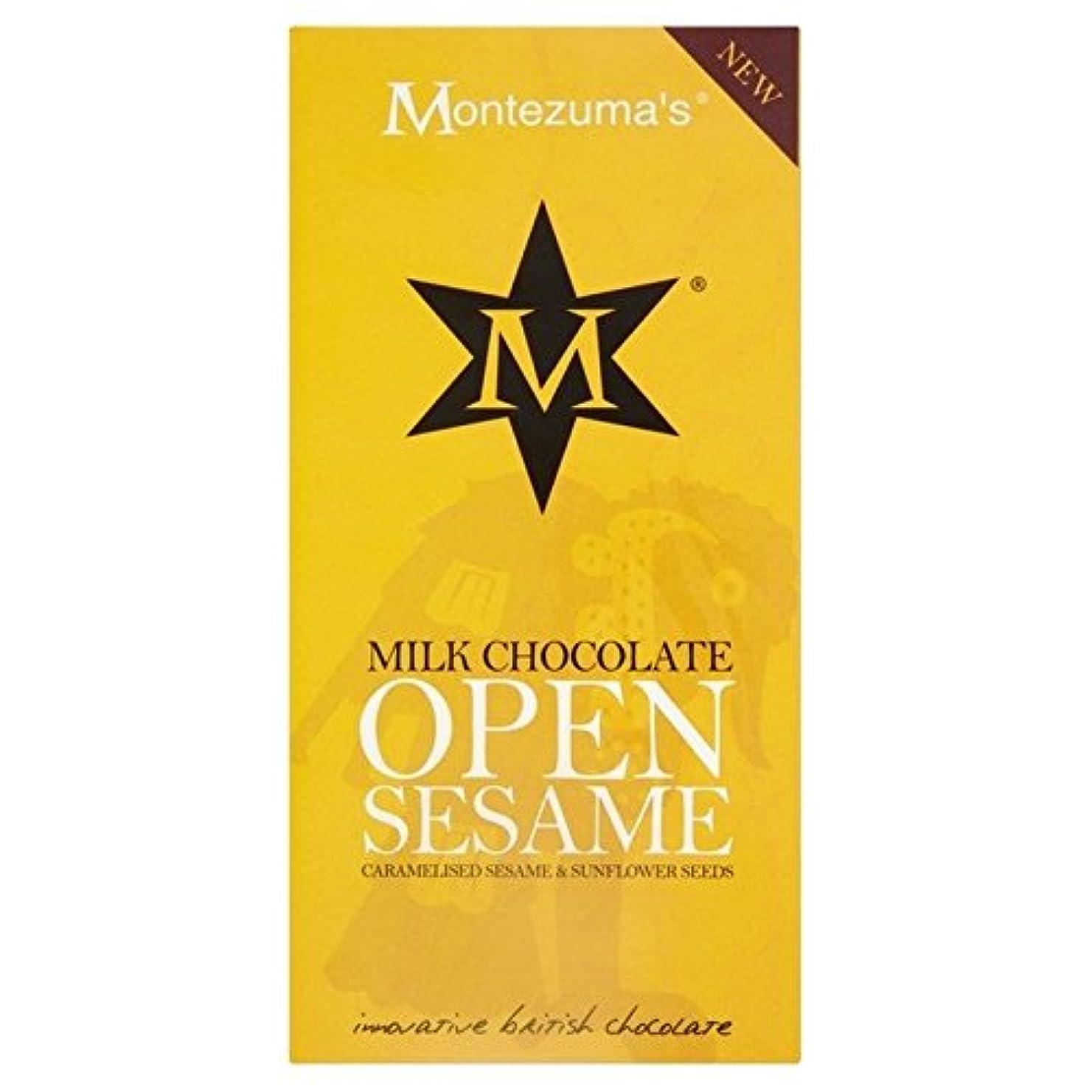 ホイップ提案ジェムゴマ&ヒマワリ種子バー100グラムとモンテスマのミルク (x 2) - Montezuma's Milk with Sesame & Sunflower Seeds Bar 100g (Pack of 2) [並行輸入品]