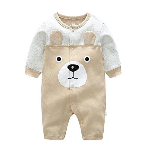 ef9c755a43fea エルフ ベビー(Fairy Baby)新生児服 カバーオールロンパース 前開き 長袖 可愛いクマ柄 9M::Whenbuy.jchere.com