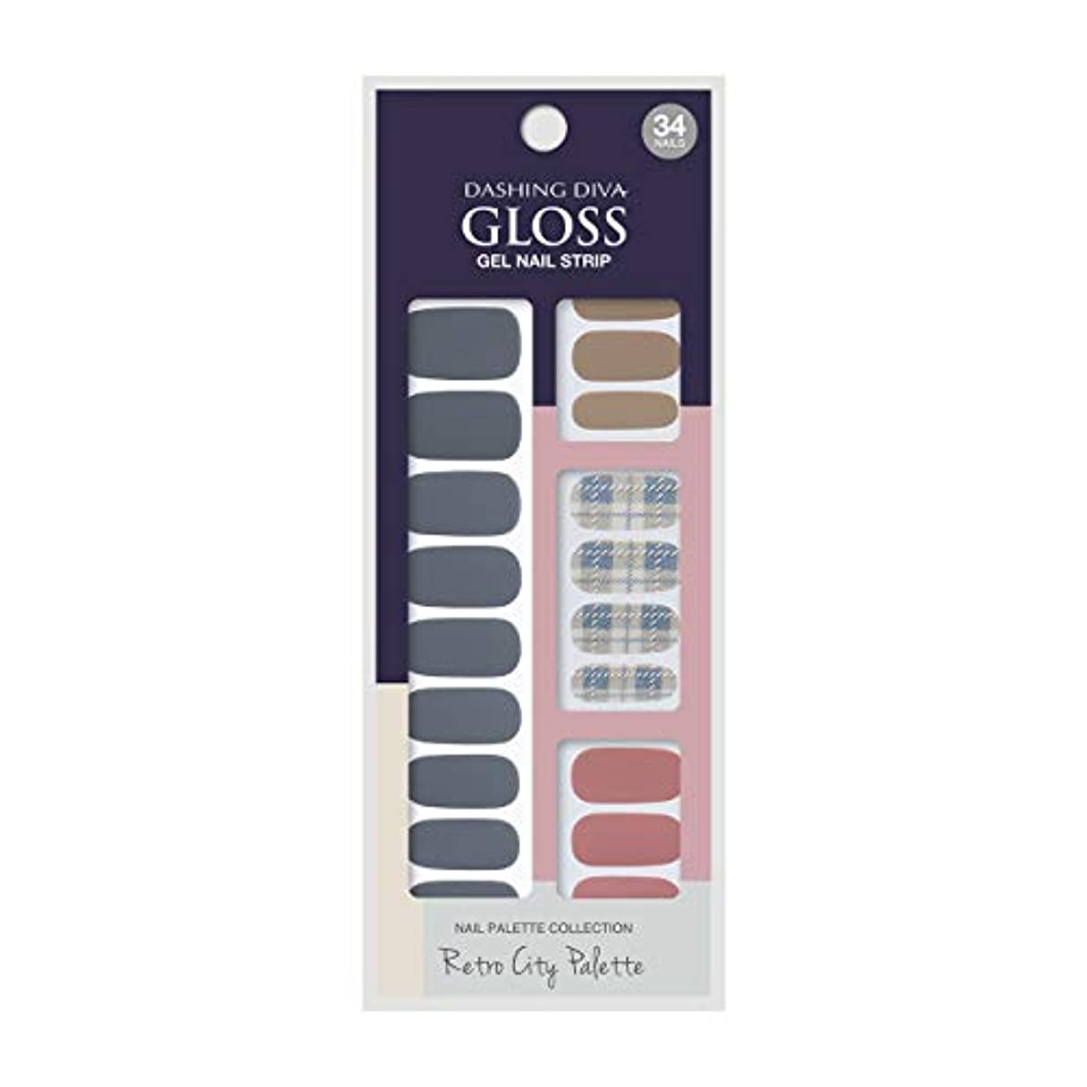 肉のシットコムメールダッシングディバ グロスジェル ネイルストリップ DASHING DIVA Gloss Gel Nail Strip GVP90 -DURY+ オリジナルジェル ネイルシール Blue Crayon