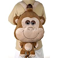 Happy Kritters Big Head Monkey Backpack 18 by Fiesta [並行輸入品]