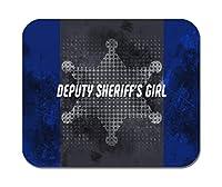 Makoroni - 保安官の少女 警察官 - ノンスリップゴムマウスパッド ゲーミングオフィスマウスパッド