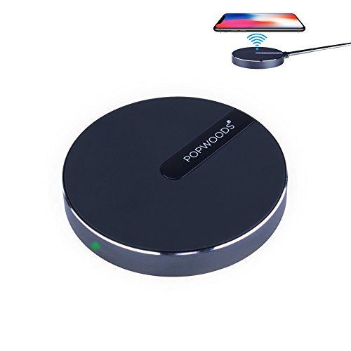 急速ワイヤレス充電器対応 10W プレミアム無線充電器対応機種Samsung S8/S8+/S6/S7/S7 Edge, Note 8,iPhone 8/8 Plus他