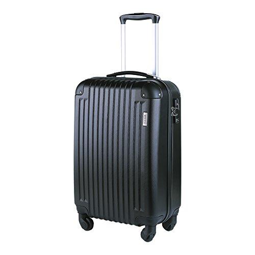(ウィベルタ) スーツケース キャリーバッグ キャリーケース 機内持込 軽量モデル ABS TSAロック搭載 無料預入受託サイズ 耐荷重13kg 改良版 ブラック Sサイズ