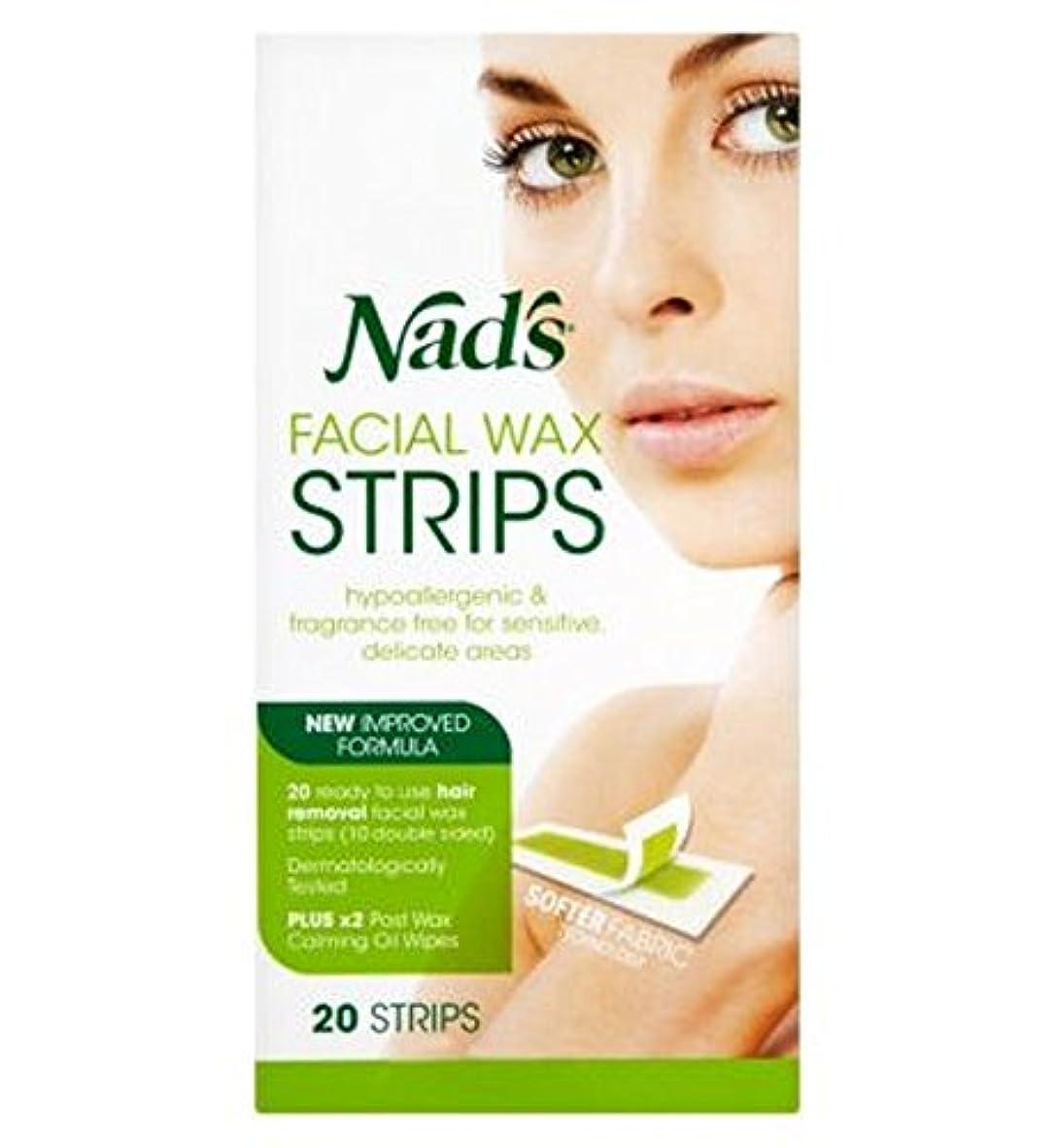 十分なに話すギャラントリーNadの顔のワックスストリップ20代 (Nad's) (x2) - Nad's Facial Wax Strips 20s (Pack of 2) [並行輸入品]