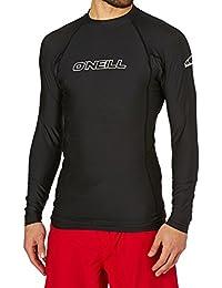 (オニール) O'Neill メンズ 水着?ビーチウェア ラッシュガード O'Neill Basic Skins Long Sleeve Crew Rash Vest [並行輸入品]