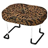住友産業 コンパクト らくらく正座椅子LE 折りたたみ式 座えくぼ 黒金