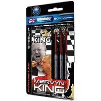 26 g Winmau Mervyn King PVDブラックタングステンダーツセットby Perfectdarts