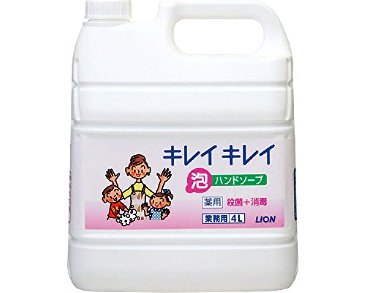 想像力設置端キレイキレイ薬用泡ハンドソープ 4L詰替 (ライオンハイジーン) (手指洗浄)
