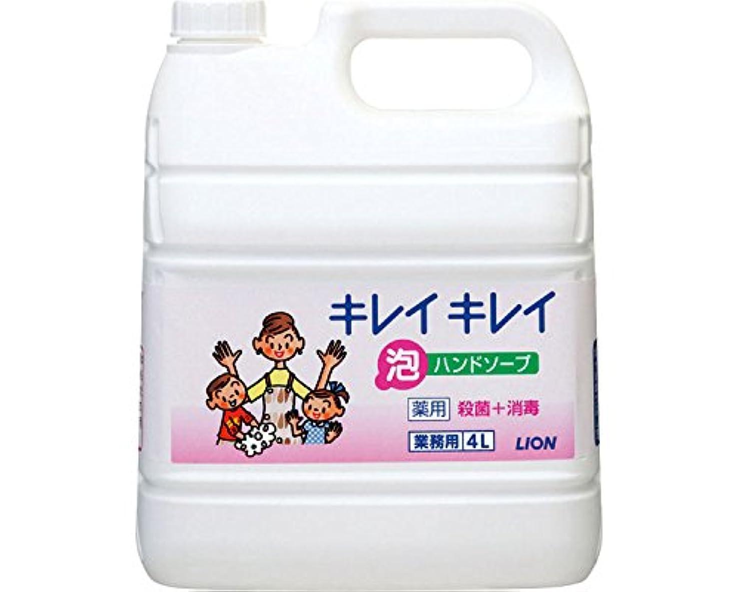 パパポンド中国キレイキレイ薬用泡ハンドソープ 4L詰替 (ライオンハイジーン) (手指洗浄)