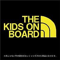 THE KIDS ON BOARD(キッズオンボード)ステッカー パロディ 子供を乗せています(12色から選べます) (黄色)