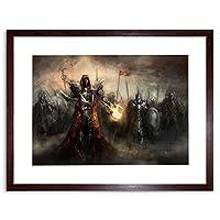 Painting Illustration Fantasy Monster Marching Army Framed Wall Art Print