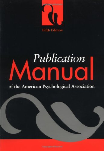 Publication Manual of the American Psychological Associationの詳細を見る