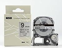 キングジム テプラPro用 互換 テープカートリッジ SM9XW(SM6Xの強粘着) 9mm マット銀地黒文字