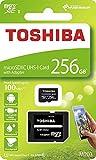 256GB microSDXCカード マイクロSD TOSHIBA 東芝 CLASS10 UHS-I R:100MB/s SDアダプター付 海外リテール THN-M203K2560A2