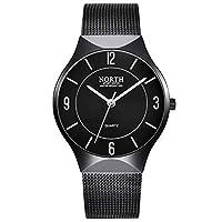 フェノコ美しい時計爆発明るい水幽霊ウォッチ防水カレンダー表鋼ベルトスポーツ腕時計メンズ