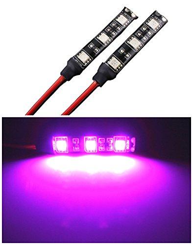 高輝度 LEDテープライト 5cm/9連 ピンク 2本セット...