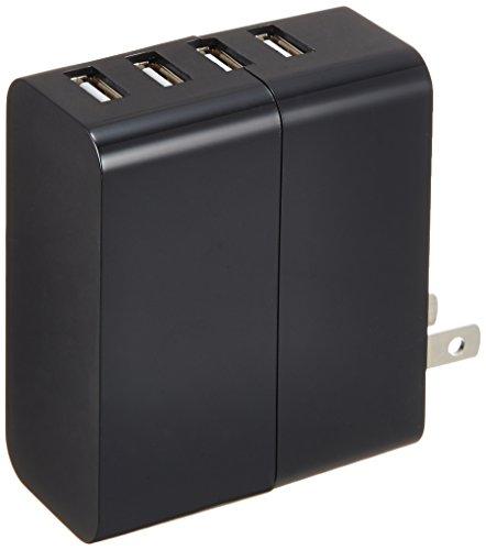 エレコム USB充電器 iPhone&Android対応 4A出力 4ポート 高出力 急速充電 AC充電器 ブラック MPA-AC4U02BK