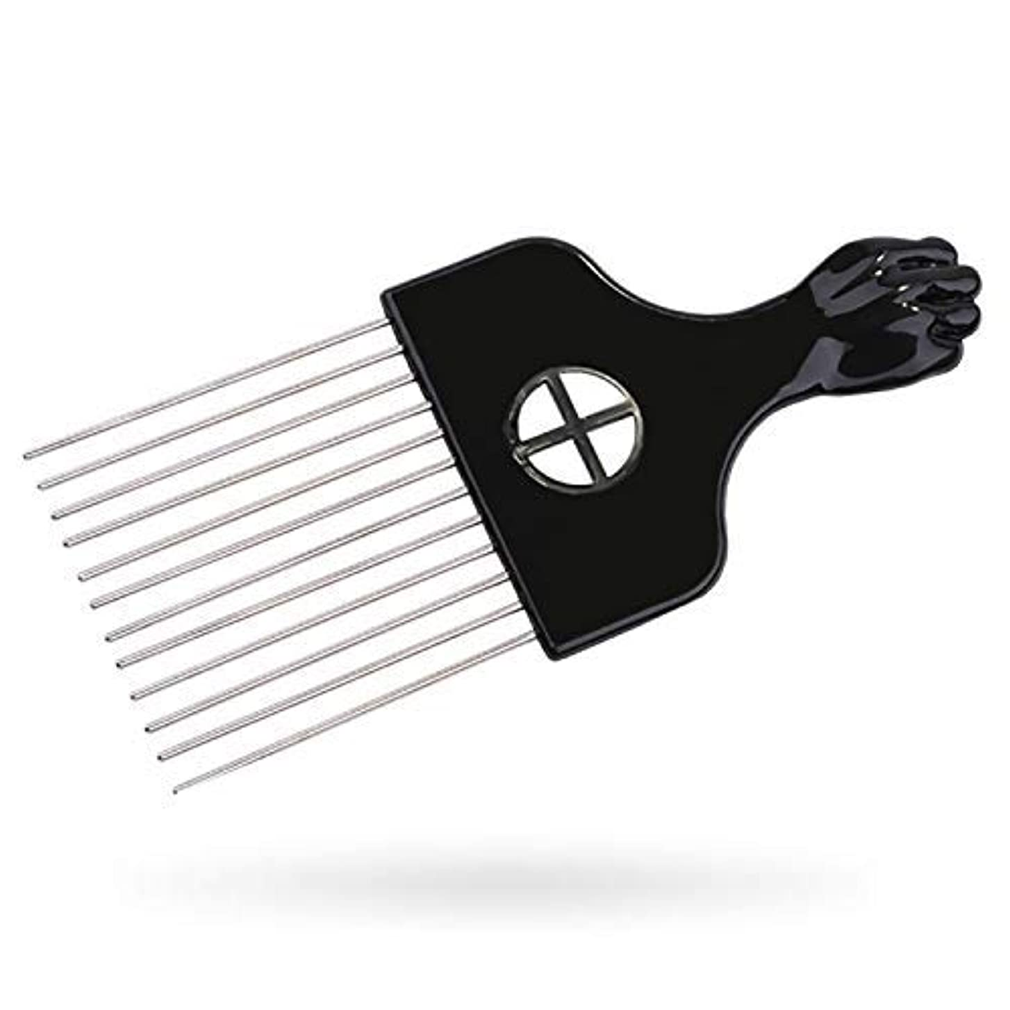 ショップ汚染雪Afro Pick, Hair Pick, Metal Pick Comb, Detangle Wig Braid Hair Styling Comb, Hair Brush(1 pack) [並行輸入品]