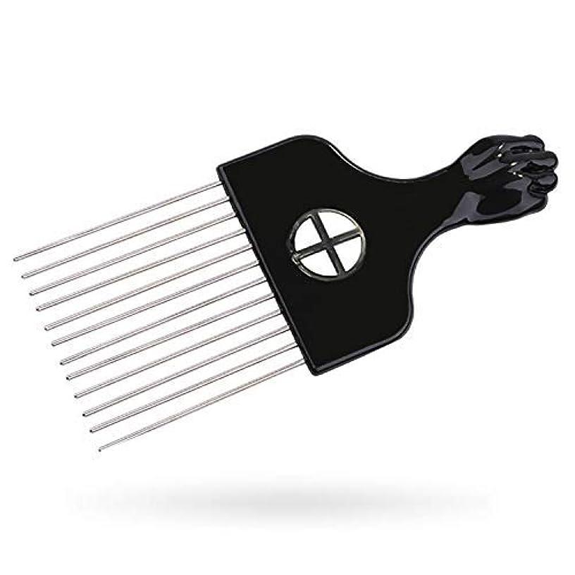スクレーパー不健全最もAfro Pick, Hair Pick, Metal Pick Comb, Detangle Wig Braid Hair Styling Comb, Hair Brush(1 pack) [並行輸入品]