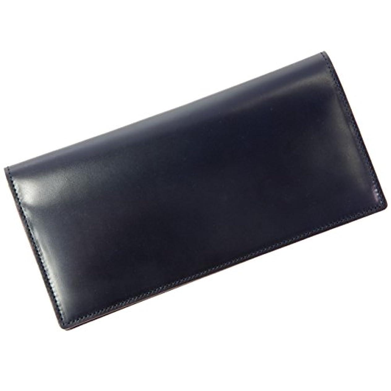 ふざけたに賛成びっくりブリットハウス【BRITHOUSE】コードバン【CORDOVAN】 藍染 長財布/カード入れタイプ(小銭入れ無し) KING OF LEATHERの称号を持つコードバン lbh0002012-0060 ネイビー【Navy】
