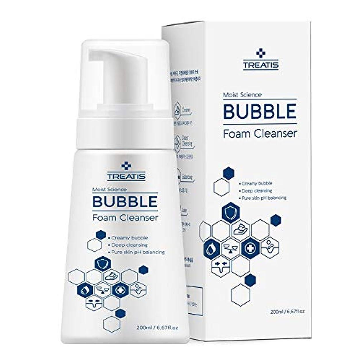 ♥贈呈品あり♥ [Treatis] Moist Science BUBBLE FOAM CLEANSER 200ml/バブルフォームクレンザー/洗顔料/フォーミングクレンザー