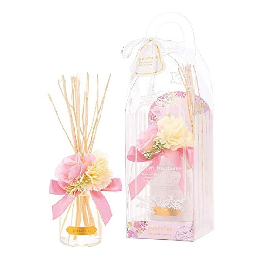 葉崇拝します割合サンハーブ ルームフレグランスフラワー ピュアローズ 100ml(芳香剤 花かざり付 うっとり幸せなばらの香り)