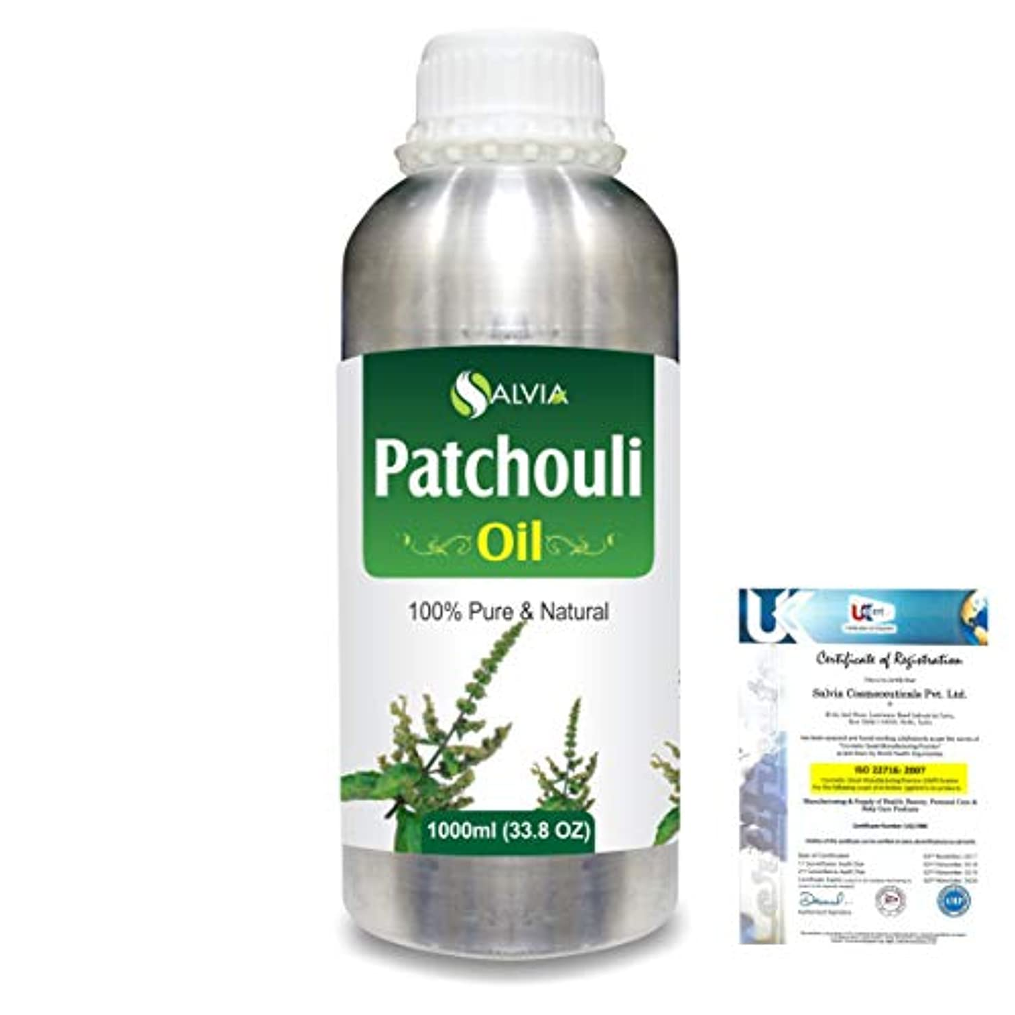 評論家グレー威信Patchouli (Pogostemon cablin) 100% Natural Pure Essential Oil 1000ml/33.8fl.oz.