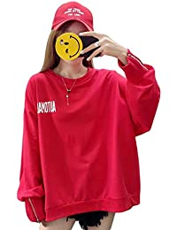 YUNHENパーカー レディース トップス トレーナー 長袖 大きいサイズ プリント 大きいサイズ 韓国ファッション クルーネック 薄手 春物