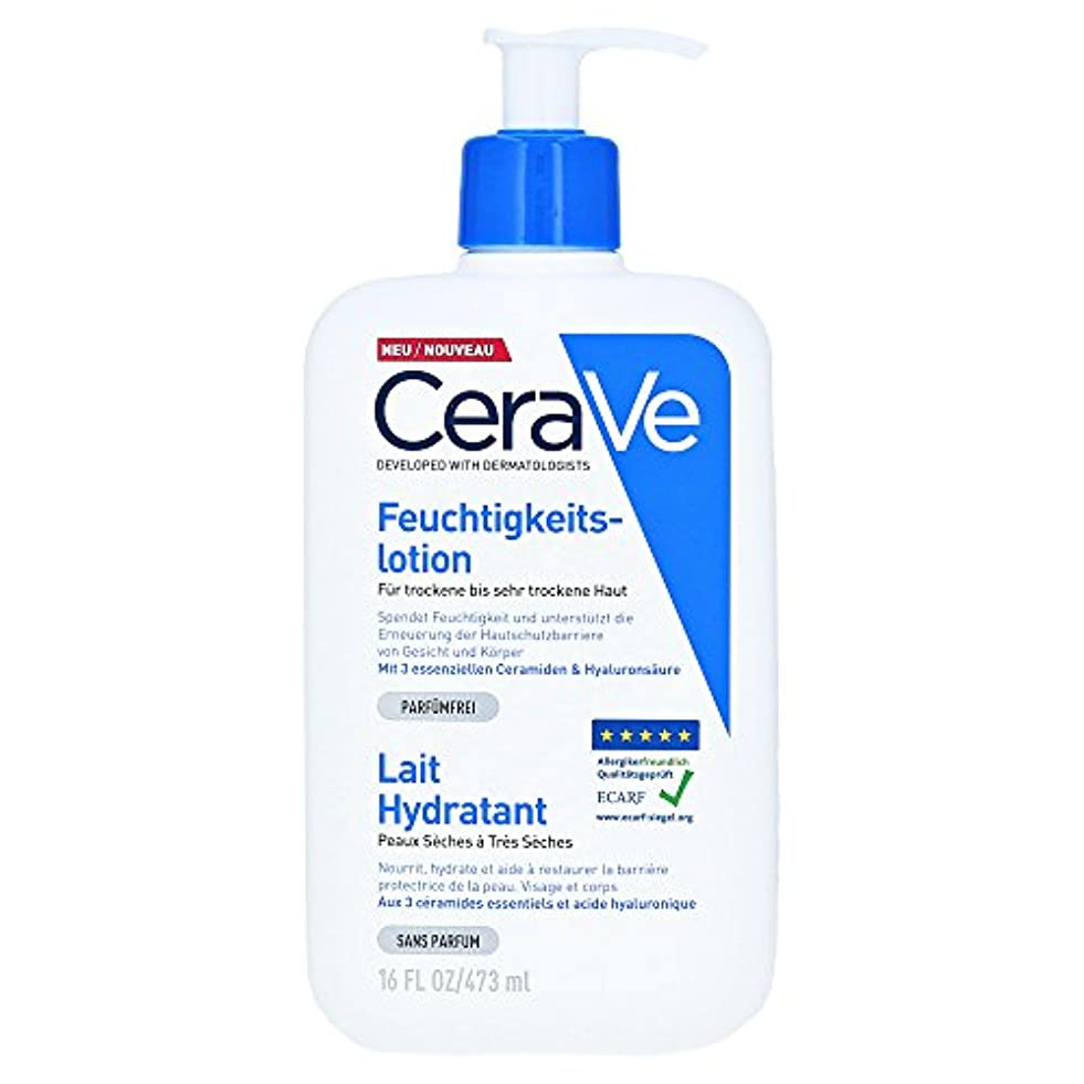 評論家イディオム感じCerave Moisturizing Lotion Dry And Very Dry Skin 473ml [並行輸入品]