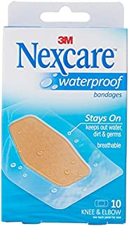 Nexcare™ Waterproof Bandage for Knee and Elbow, Set of 10