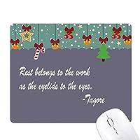 有名人が癒しのまぶたを休ませる ゲーム用スライドゴムのマウスパッドクリスマス