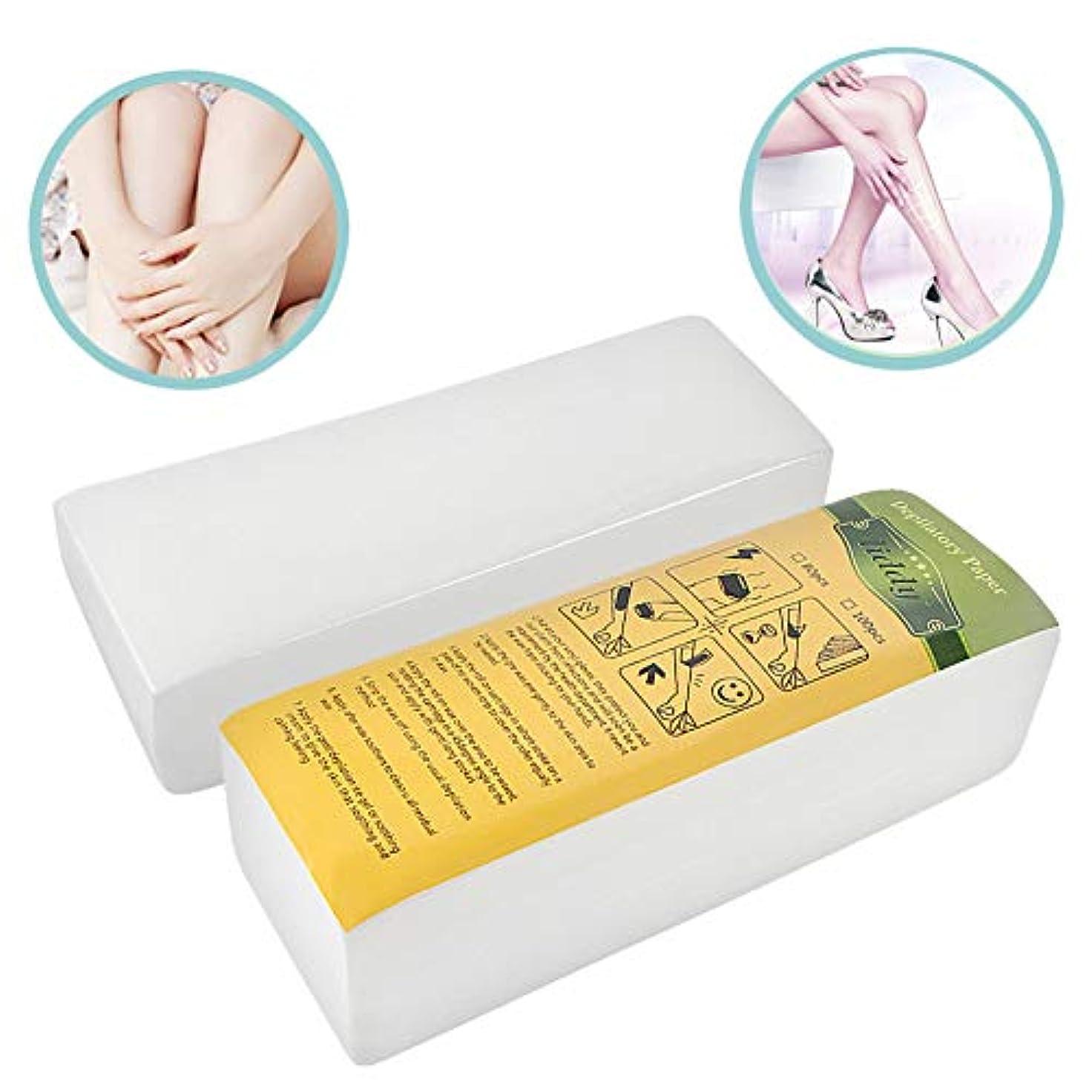 同意拮抗モック100個 蜜蝋 脱毛紙 不織布 脱毛器 腕、脚、脇の下、顔に適しています