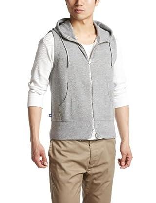 Loopwheeler Hooded Vest 112-61-0037: Grey