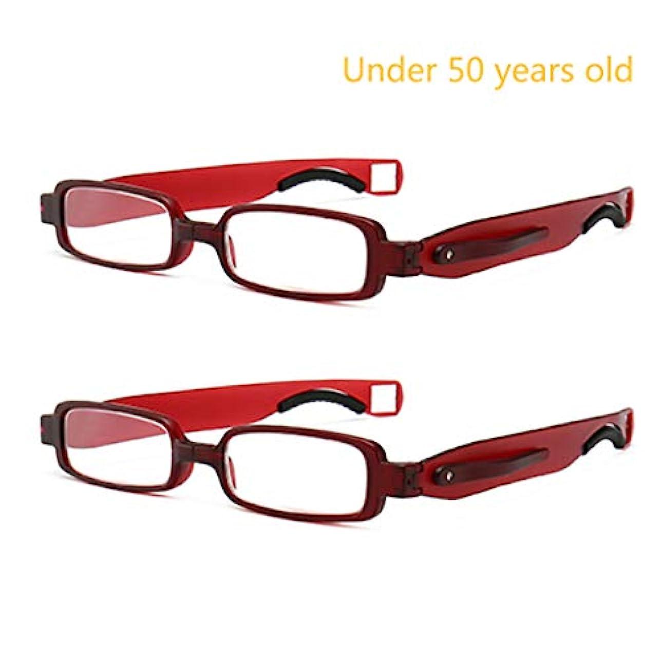 360度回転老眼鏡、折り畳まれた男性と女性の読者。 TR90素材、厚めのテンプルデザイン、軽量で耐久性、持ち運びに便利。
