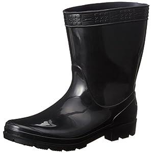 [ヘイギ] 長靴 PVC紳士短半長靴 HG-1 ブラック 25 cm
