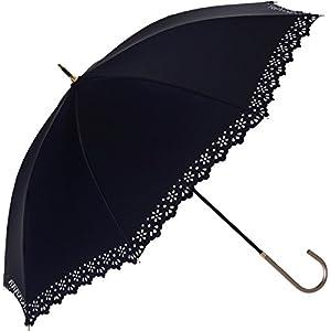 プラスニコ 長傘 手開き 日傘/晴雨兼用傘 ネイビー 遮光 遮熱 全4色 8本骨 47cm UVカット 99.9% 以上 21252